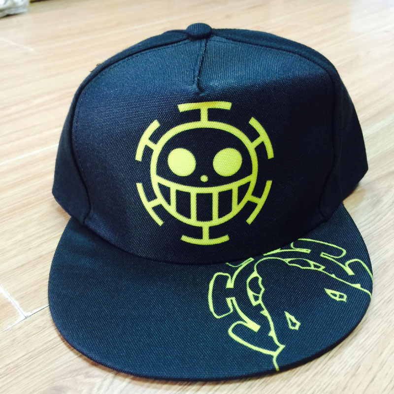 Anime One Piece Trafalgar Law Ace Cap Casual Outdoor Hip-hop Hat Of Cospaly Styles To Enjoy High Reputation In The International Market