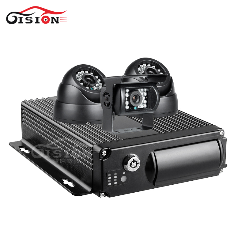3Pcs Bus Night Vision 2.0MP Indoor/Outdoor Camers 4CH H.264 SD GPS Vehicle Mobile Dvr Kits Playback Record GPS Track G-sensor