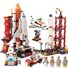 лучшая цена Space model building block set toys  Spacecraft Space Patrol Vehicle Blocks Space shuttle model DIY toys Gifts for children