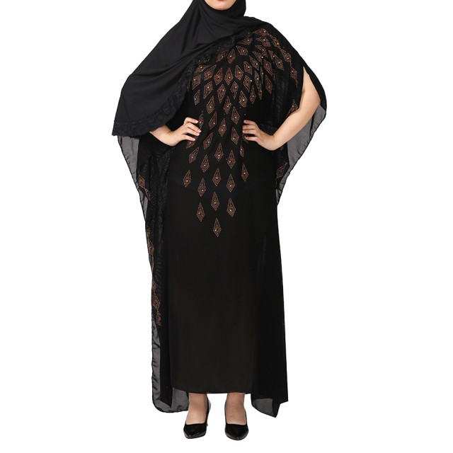 National Style Dubai Abaya Women Muslim Dress Loose Abaya Kaftan Turkish Muslim Women Long Dress Turkish Islam Muslim Dress A 3