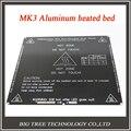 Envío gratis negro MK3 heatbed última de aluminio lecho caliente doble poder de piezas de la impresora 3D RepRap 214 * 214 mm diámetro como MK2B