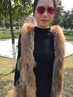 MLHXFUR Long Nature Brown Rabbit fur vest real fur gilet fashion coat sleeveless Hoodie Hooded Plue size 4XL 5XL 6XL Plus
