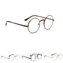 974990c43 2018 moda unisex coreano vintage óculos de armação de metal redonda óculos  lente clara óculos de olho acessório