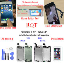 For Iphone 6 Plus 5.5 LCD pantalla Display + Touch Screen Digitizer full Assembly + Front Camera + Home Button For iphone6 i6
