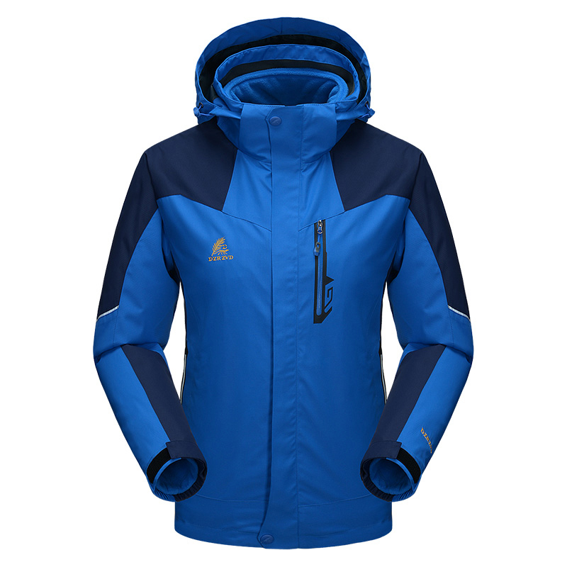 ФОТО Waterproof Lovers Families Outdoor Jacket North Ski-Wear Two-Piece Breathable Hiking Jacket For Men And Women 3 In 1 Jacket