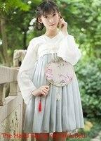 現代中国伝統dress漢王朝ruqun韓服コスチューム用レディースリネンシフォン夏dress