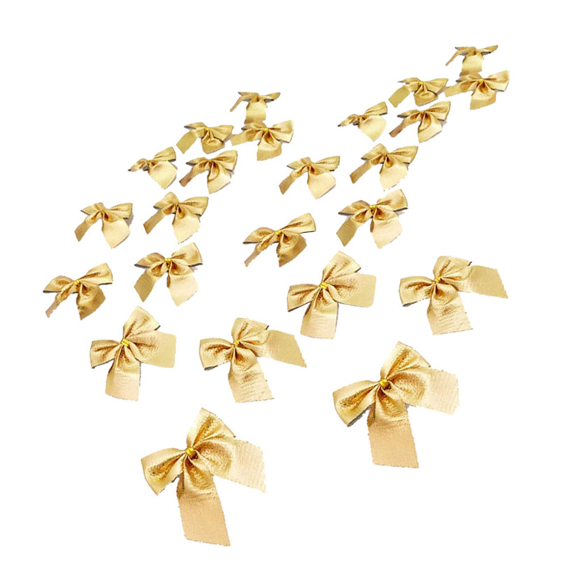 12PCS Pretty Bow Xmas Ornament Christmas Tree Decoration Festival Party Home Bowknots Baubles Baubles New Year Decoration03