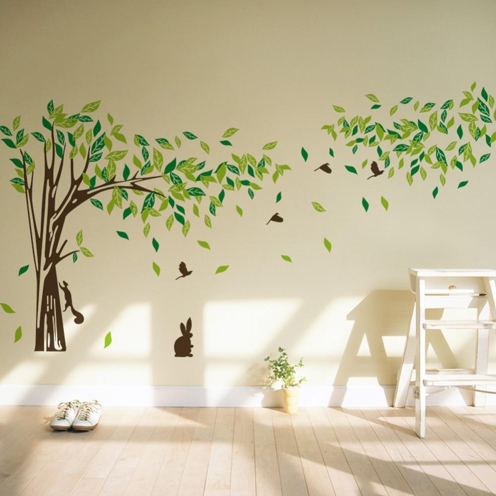 Large Green Tree Wall Sticker Vinyl Removable Diy Room