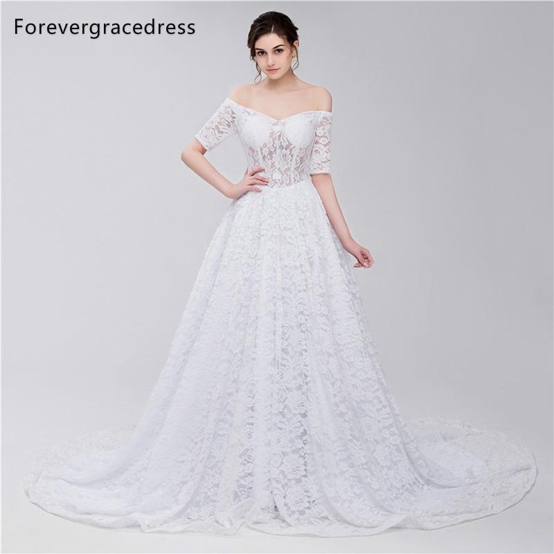 Forevergracedress Elegant White Wedding Dress Off The