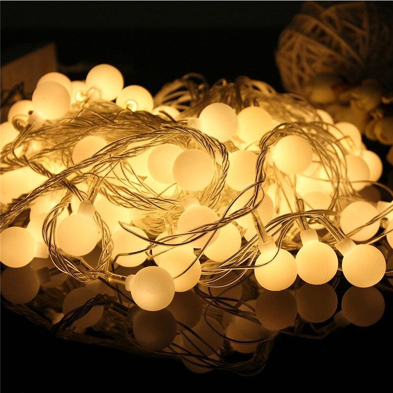 10M 100LED Globe String Lights Warm White Xmas String Curtain Lamp Ball Fairy Light for Christmas,Wedding,Ceremony Decoration