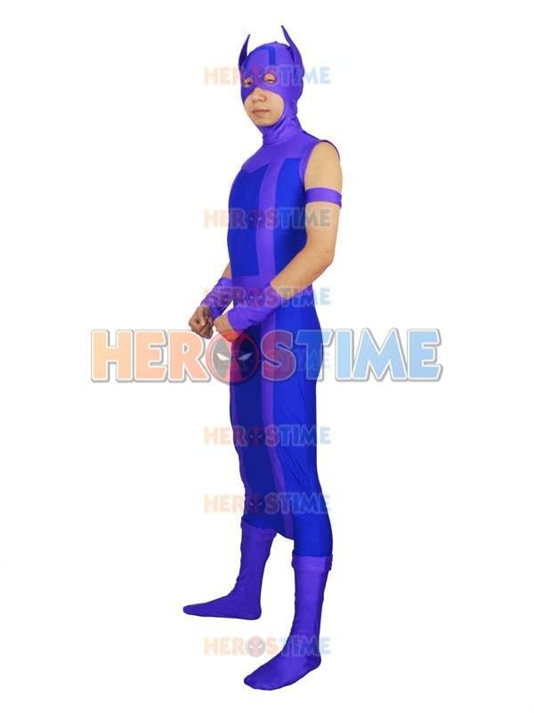 Avengers Hawkeye Costume Spandex Purple & Blue Avengers Hawkeye - Կարնավալային հագուստները - Լուսանկար 2