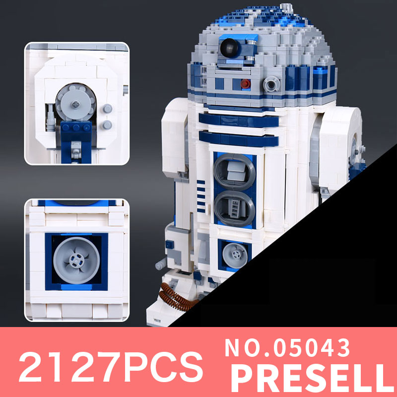 Lepin 05043 2127Pcs Star Genuine Wars Series The R2 Robot Set Out of print D2 Building Blocks Bricks Toys LegoINGlys 10225 Model
