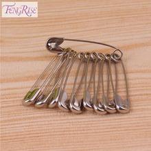 FENGRISE 25mm 100pcs Silver Hijab Strong Safety Pins DIY Sewing Tools Accessory