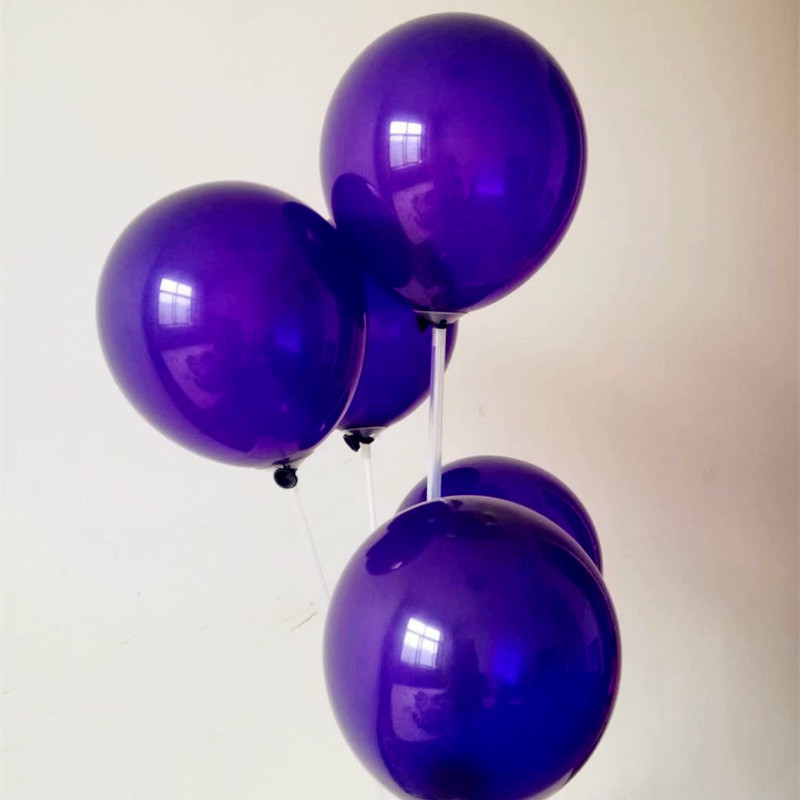 latex deep purple balloons 50pcs/lot10 inch 2.2g thick spherical baloons babyshower balloon wedding party supplies