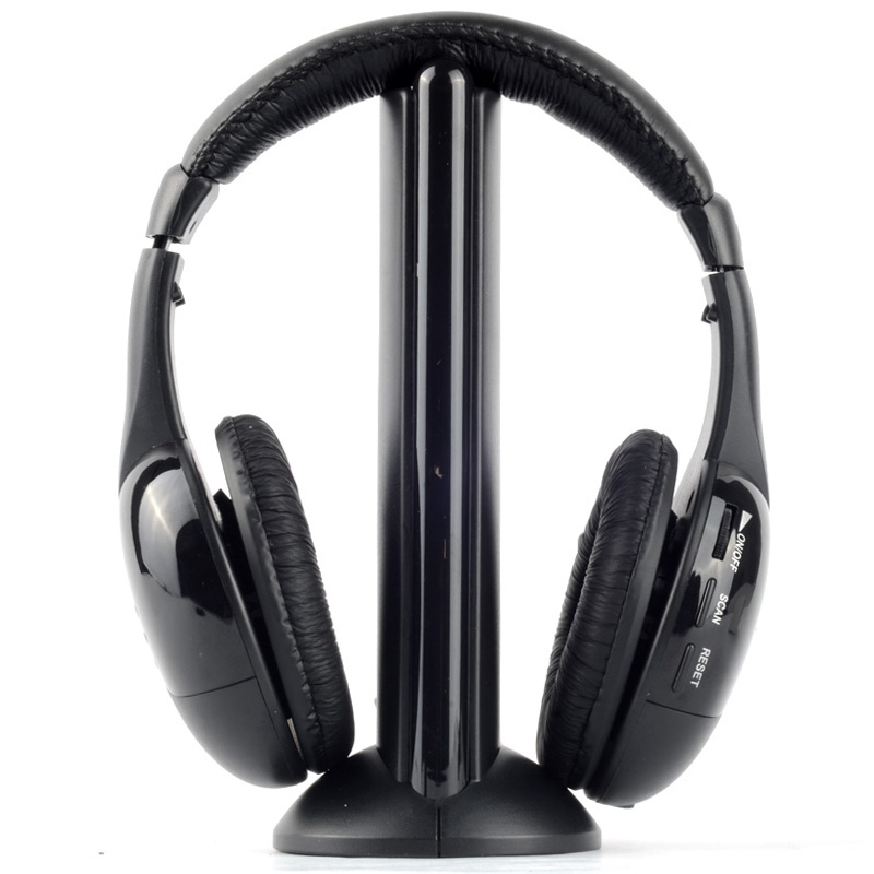 Wireless Headphones Headset MH2001 MP3 MP4 PC CD DVD Audio TV FM Radio Earphones & Headphones 5 in 1 wireless stereo headset headphone transmitter fm radio for tv dvd mp3 pc l060 new hot