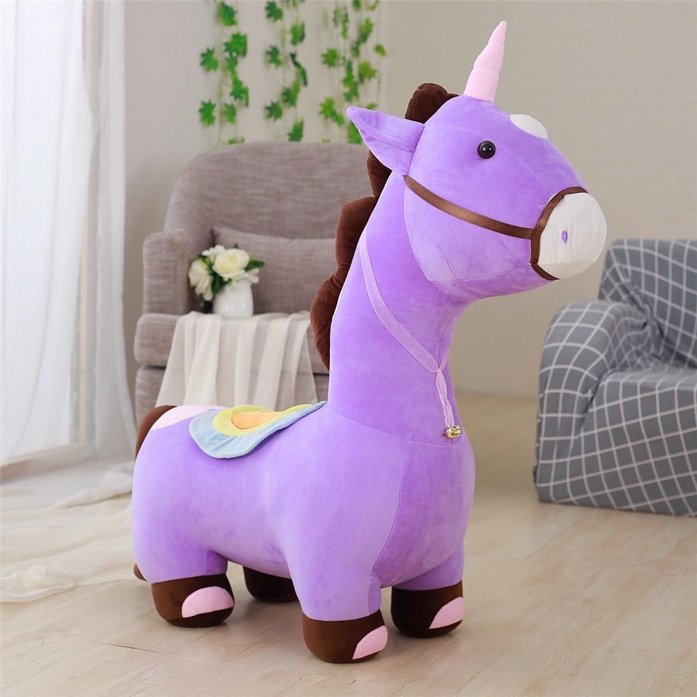 Fancytrader Soft Anime Einhorn Plüsch Sofa Spielzeug Große 120 cm Gestopft Cartoon fahrt auf Pferd Puppe Stuhl Könnte Laden 50 kg auf der Rückseite - 2