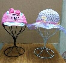 Hot sale Hat display rack metal peak cap display stand bucket hat straw hat sunhat shelf holder wig hairpiece storage rack