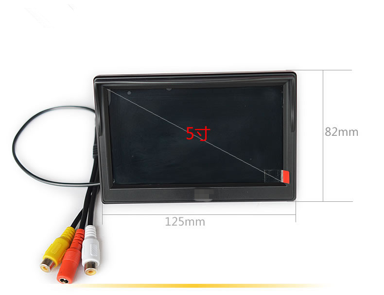 5 Inch TFT LCD 800x480 Digital Panel Color Car Monitor Rear View Monitor With 2 Way