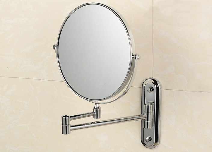 6 inch/8 inch Wall Mounted Extending Folding Mirror Double Side Cosmetic Make up Bathroom Mirror Lady's Mirror Magnifier silver extending 8 inches cosmetic wall mounted make up mirror shaving bathroom mirror 5x magnification