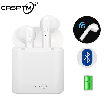 CASPTM Wireless Bluetooth 4.2 Earphone i7s TWS Sports Charging Storage Box In Ear Earbud Earpiece Headset For iPhone For Xiaomi