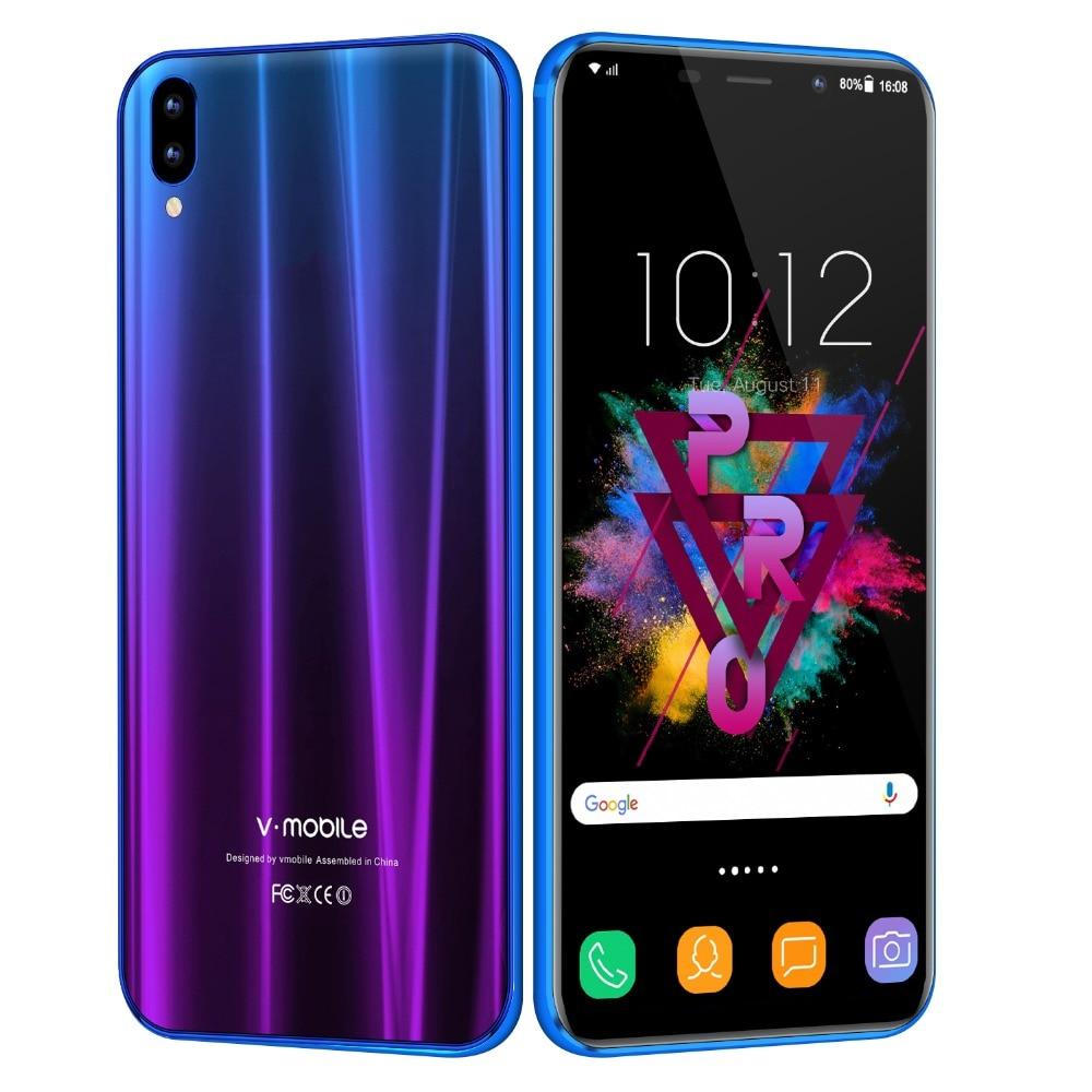 TEENO Vmobile XS pro мобильный телефон Android7.0 5,84 19:9 полный экран 3 Гб оперативная память 32 Встроенная 13MP камера Dual sim 4 ядра смартфон