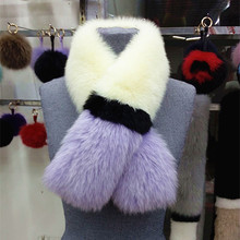 2016 New Fox Scarf Wool Fashion Fur Winter ColorScarf Warm Poncho CapeFur Cape Women