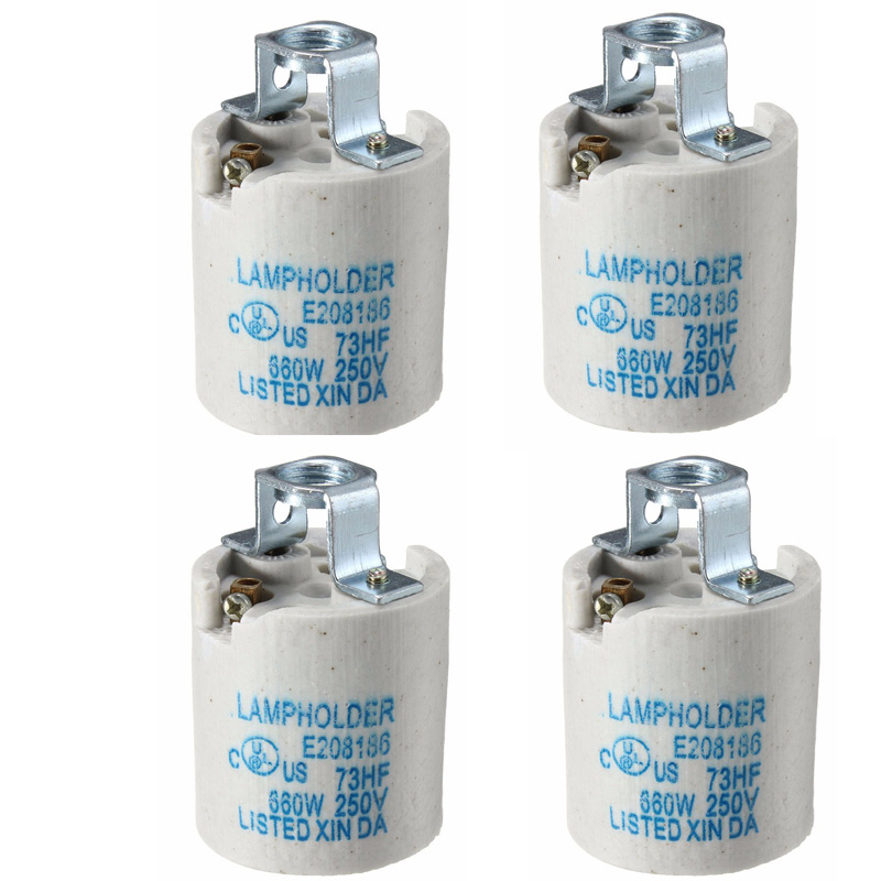 E27 Ceramic Lamp Holder Light Socket Base Accessory Screw Cap Adapter Converter For Retro Vintage Edison Bulb Lamp