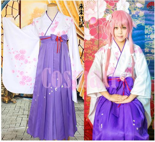 2018 горячие аниме дневник будущего Mirainiki рисунок Yuno Gasai кимоно костюм UniformCarnival вечерние Косплэй костюм для Хэллоуина