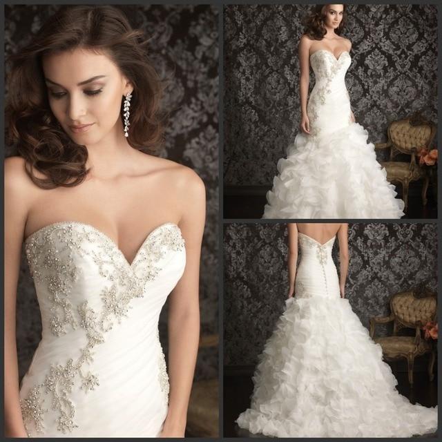 Custom Made Bead Embellished Sweetheart Neckline White Or Ivory ...