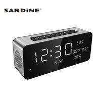 Sardine A10 Wireless Bluetooth Speaker Alarm Clock 12W Portable Stereo Subwoofer HiFi Speaker Built In 2pcs