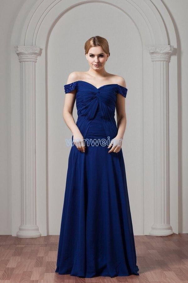 Livraison gratuite pas cher offre spéciale nouveau design sur mesure eli saab v-cou pli robe de soirée bleu longue grande taille robe de soirée