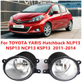 Para TOYOTA YARIS (NLP13_NSP13_NCP13_KSP13) 2011-2014 amortecedor Dianteiro alto brilho luzes de halogéneo de nevoeiro Car styling 81210-0D040