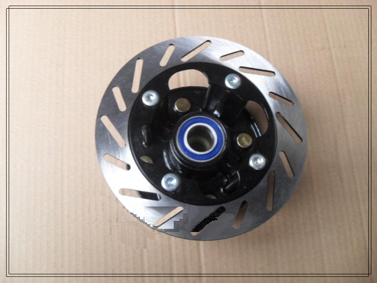 front wheel mounting bracket wheel hub and flange  with disc brake of LONCIN/JIANSHE/LONGDING/BASHAN  250cc ATV,
