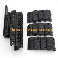 Airsoft Tactical AK 74U Airsoft Quad Ris Rail Scope Mount Handguard Rail 12pcs Picatinny Covers Hunting Shooting Accessories