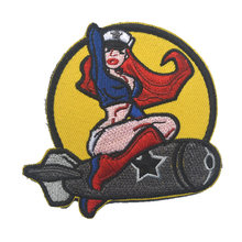 ISAF US ARMY PINUP GIRL Tactical Morale Patch US Army Military Combat Badge Embroidered Decorative Patch For Jackets Jeans Cap(China)