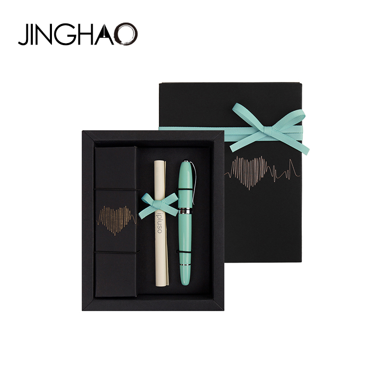Elegant Mint Green Rollerball Pen Gift Set Black Ink Metal Signature/Ballpoint Pens for Christmas Gift 11 Colors for Choose mint green casual sleeveless hooded top