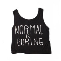 Modal Solid Color Tops Summer New Fashion Letters Printed Short Tanks Female Slim Fitness Sex Tee
