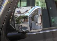 Lapetus Door Side Rearview Mirror Case Cap Cover Trim Fit For Jeep Wrangler JL 2018 2019 Chrome / Carbon Fiber Look