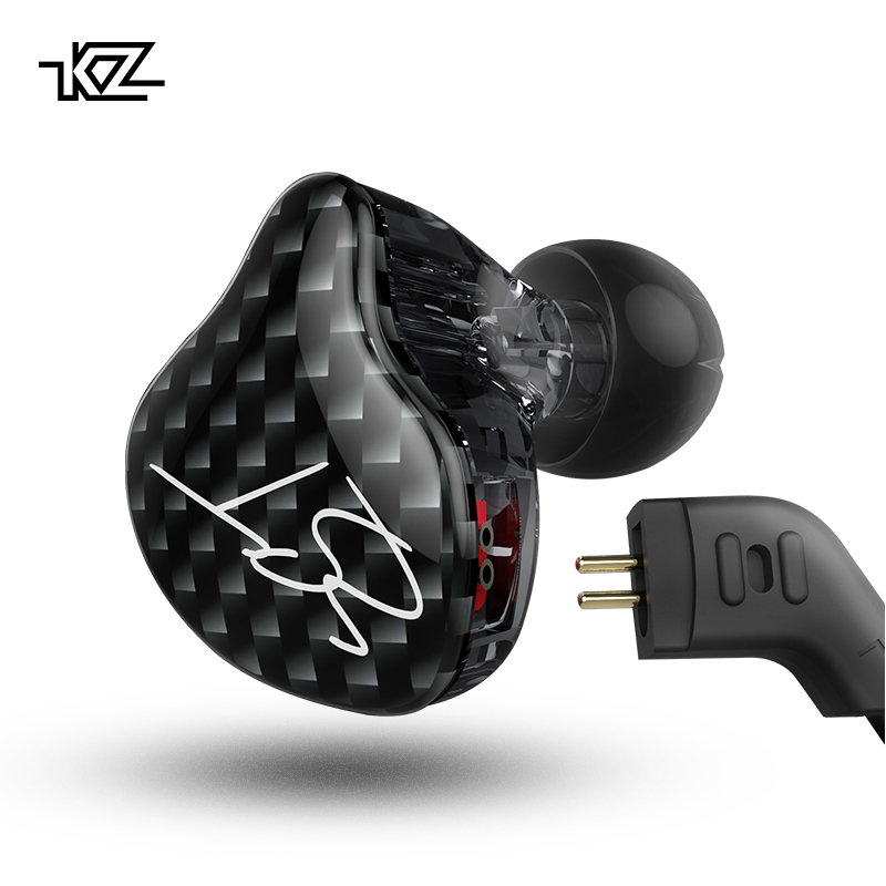 KZ ZST Headphones Dual Driver Earphone Dynamic  Armature Detachable Bluetooth Cable Monitors Noise Isolating HiFi Music  Earbuds