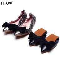 Women S Fashion Pointed Toe Ballerina Women Shoes Genuine Leather Ballet Flats Foldable Portable Travel Flats