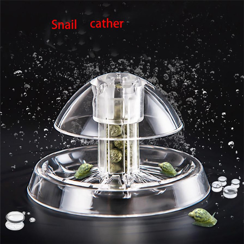 Clear Plastic Aquarium Snail Trap House Clean Fish Tank Snails House Remover Tank Plants Planarian Leech Catch Environment sale ...