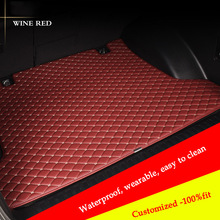 цена на car mat trunk Cargo Liner for Subaru all model FORESTER XV OUTBACK LEGACY Tribeca car trunk pad car accessories Car Styling
