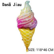 Foil-Balloon Cake Ice-Cream Food-Decoration Rainbow Birthday-Party Pink Sweet Chocolate
