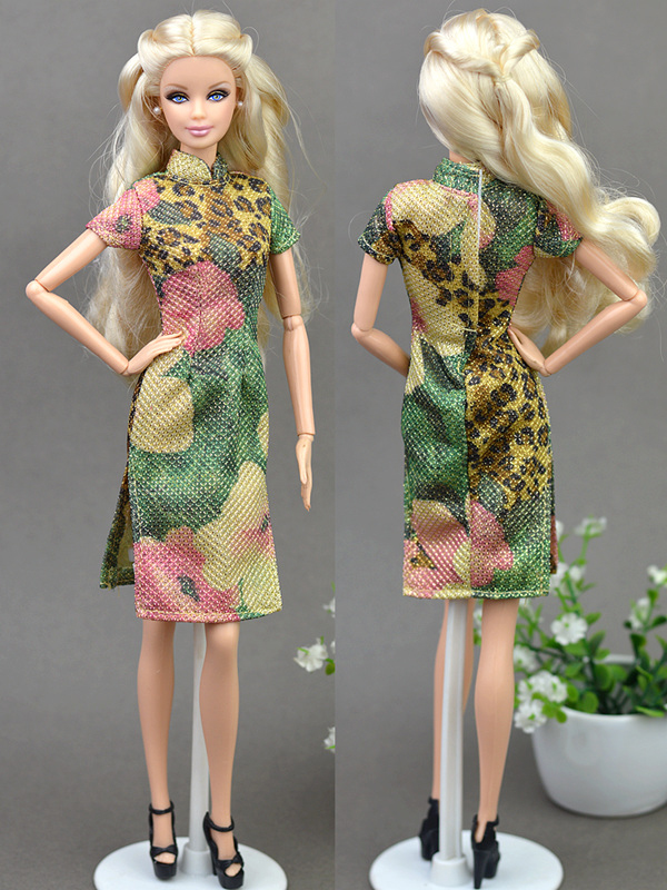 Details about Eveneing Dress Clothes For 1 6 Doll Chinese Traditional Dress  Cheongsam Qipao 5aa168ec5b04