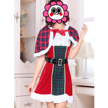 New England Christmas Velvet Uniform Cosplay Costume Women Dress Free Shipping Cloak Red Costumes With Belt