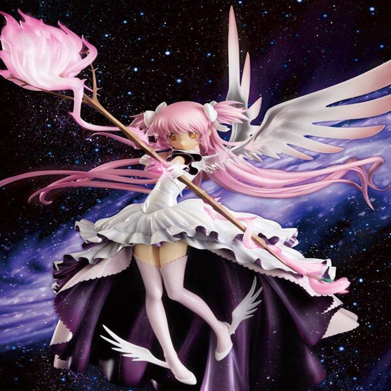 anime cartoon doll Sexy girl Anime Kaname Madoka Puella Magi Madoka Magica PVC Action Figure Collection Model Toy T5628 anime one piece dracula mihawk model garage kit pvc action figure classic collection toy doll