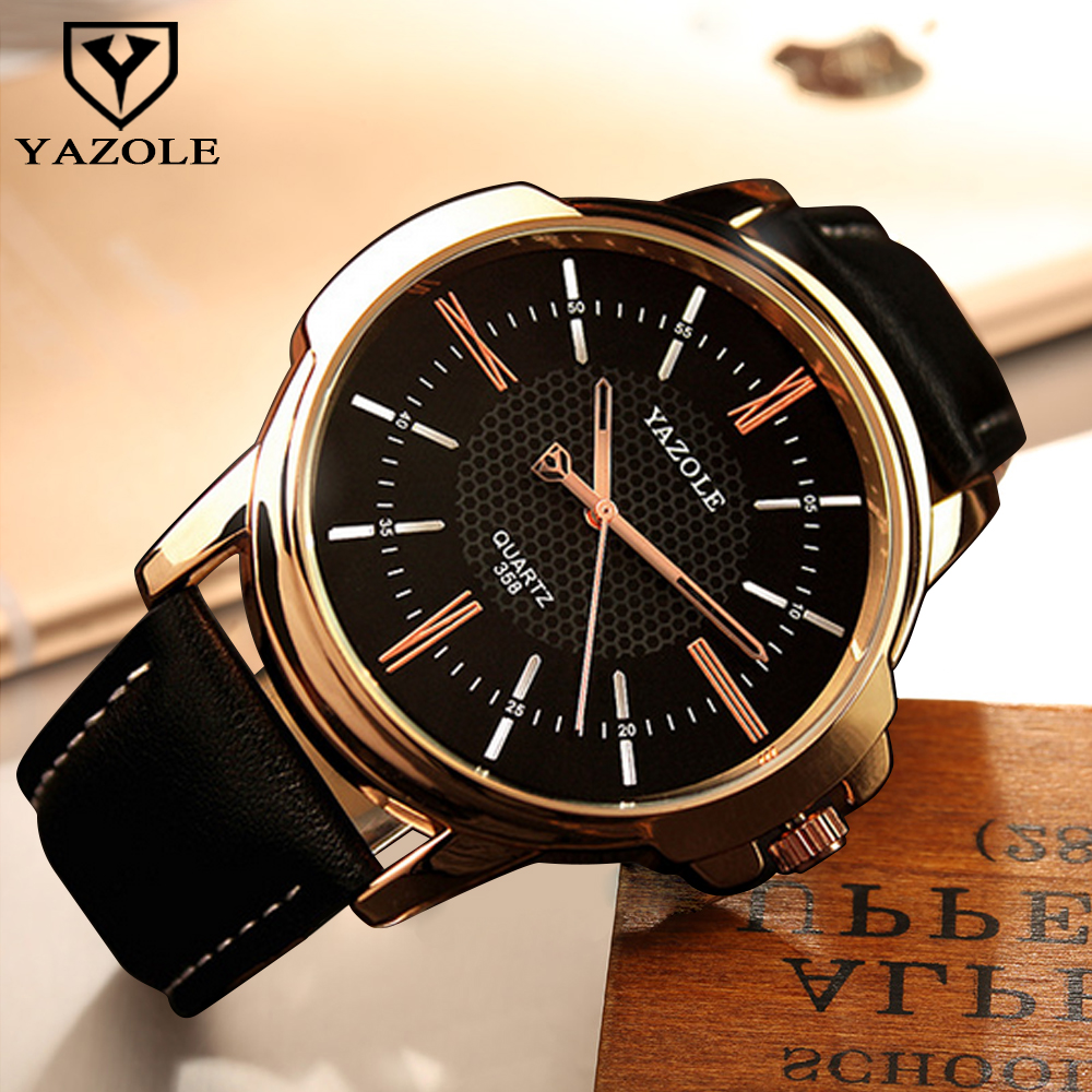 YAZOLE Men Clock Rose Gold Watch Men 2017 Top Brand Luxury Famous Golden Wrist watch Male Clock Quartz Watch Relogio Masculino chenxi wristwatches gold watch men watches top brand luxury famous male clock golden steel wrist quartz watch relogio masculino