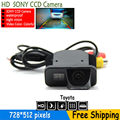 free shipping SONY CCD Chip Car Rear View Reverse Mirror Image CAMERA for TOYOTA Corolla Tarago Previa Wish with parking lines
