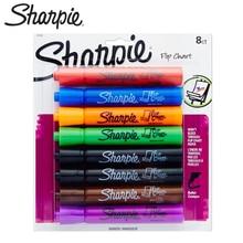 8 Pens/Box American Sanford Sharpie Whiteboard Marker Set Flipchart Mark Hanging Paperboard Special Pen Round Head 22480