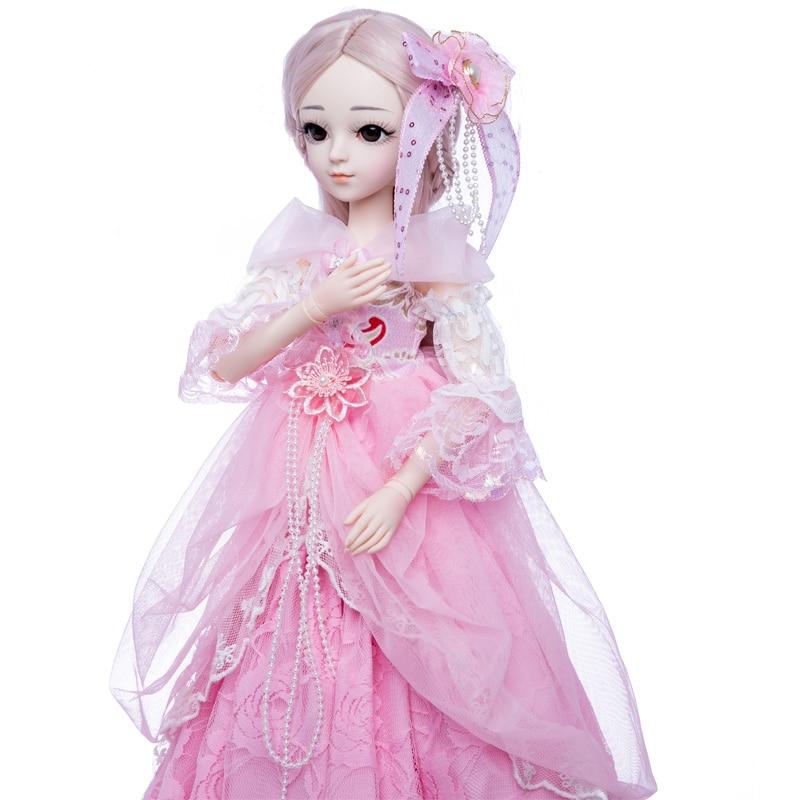 เจ้าหญิงแอนนา 1/3 60 ซม. ตุ๊กตา BJD DIY แฟชั่นวิกผมตุ๊กตาเจ้าหญิงตุ๊กตาของเล่นสาว-ใน ตุ๊กตา จาก ของเล่นและงานอดิเรก บน   2